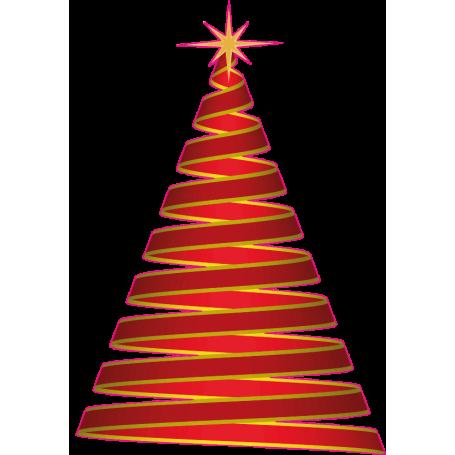 Vinilo pared árbol Navidad espiral