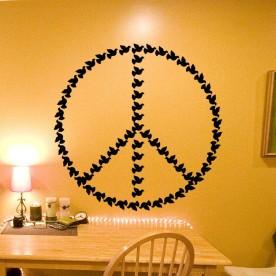 Vinilo paz aves