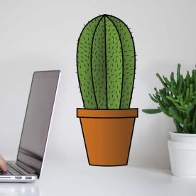 Vinilo maceta cactus