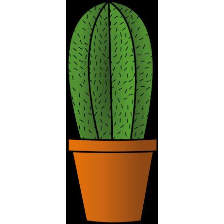 Vinilo decorativo maceta cactus