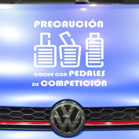 Pegatina pedales competición