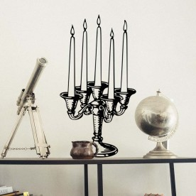 Vinilo candelabro velas