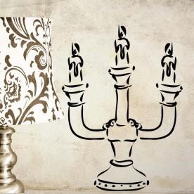 Vinilo ilustración candelabro