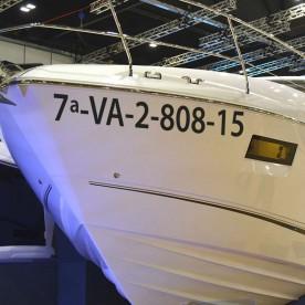 Matrícula barco en vinilo