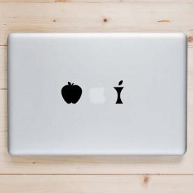 Pegatina Mac manzana
