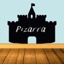Vinilo pizarra castillo medieval
