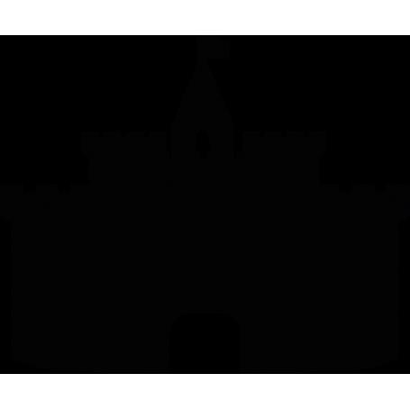 Vinilo adhesivo pizarra castillo medieval