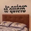 Vinilo Te Quiero abstracto