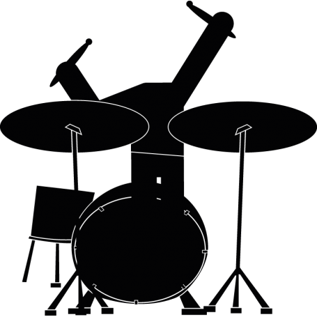 Vinilo para portátil batería música