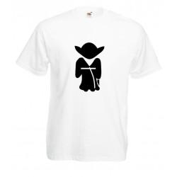 Camiseta silueta yoda