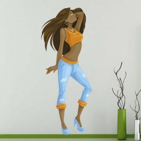 Vinilo chica bailando