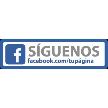 Pegatina de vinilo Facebook personalizable