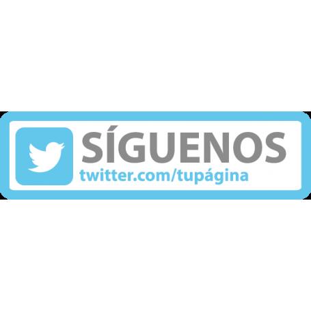 Vinilo Twitter personalizable
