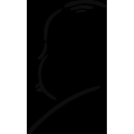 Adhesivo para portátil Alfred Hitchcock