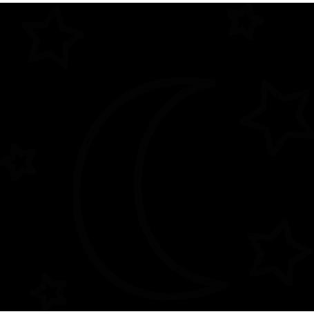 Vinilo infantil estrellas y luna