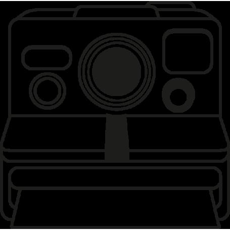 Pegatina para portátil cámara Polaroid