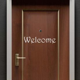 Vinilo texto Welcome