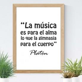 Lámina Música Platón