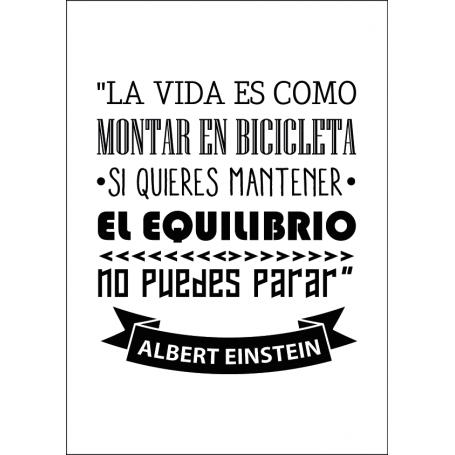 Lámina decorativa vinilo Einstein Bicicleta