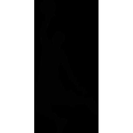 Vinilo decorativo silueta jugador baloncesto