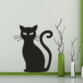 Vinilo silueta gato