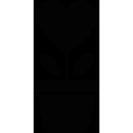 Vinilo decorativo maceta flor corazón