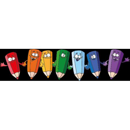 Vinilo infantil amigos lápices