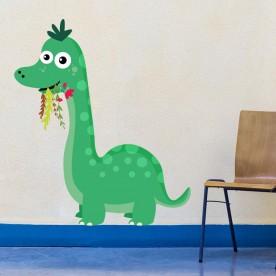 Vinilo dinosaurio comiendo
