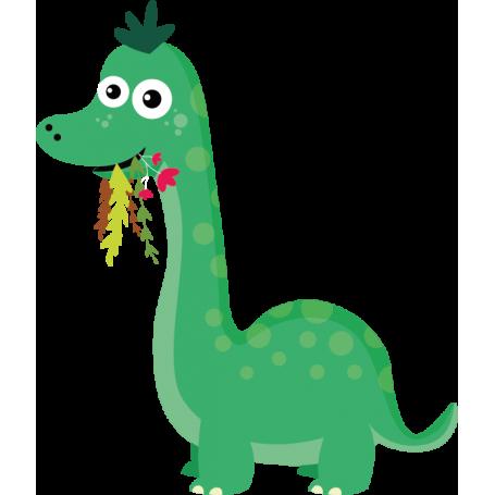 Vinilo infantil dinosaurio comiendo