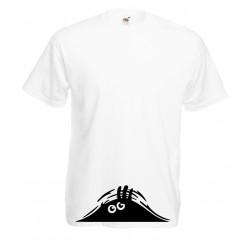 Camiseta monstruo asomándose