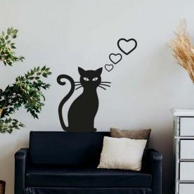 Vinilo gato amor