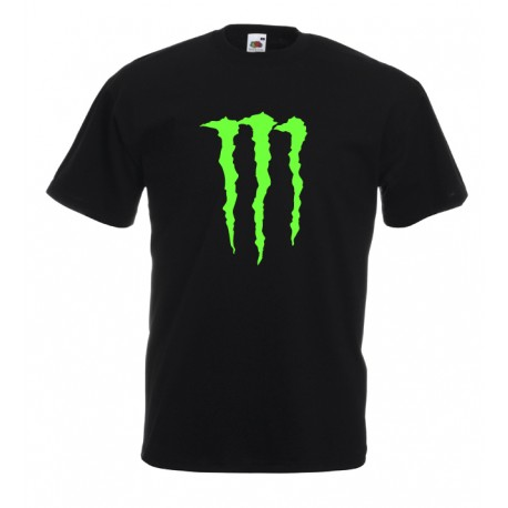 Camiseta Monster estampado neón