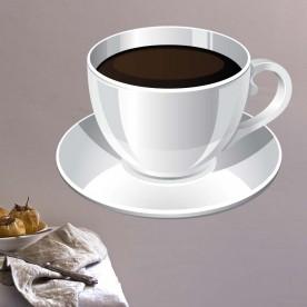 Vinilo taza café color