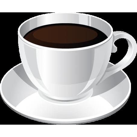 Vinilo decorativo taza café color