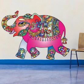 Vinilo elefante hindú