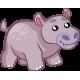 Vinilo pared infantil animal hipopótamo