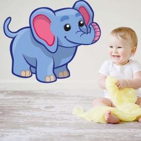 Vinilo elefante Azul