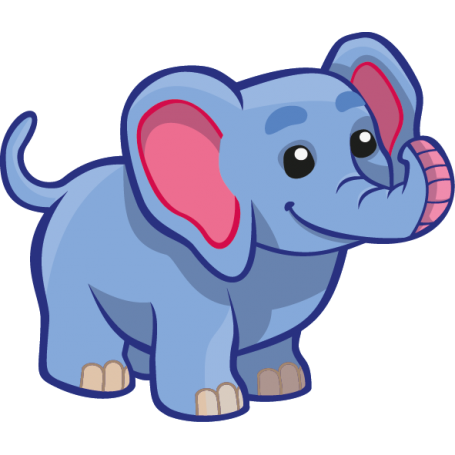Vinilo infantil elefante Azul