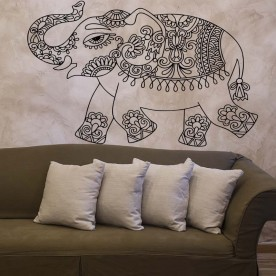 Vinilo elefante mandala