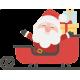 Vinilo Navidad Santa Claus