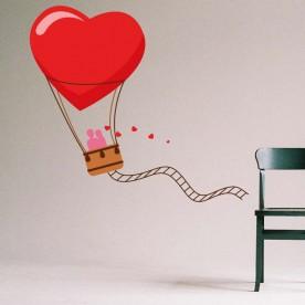 Vinilo globo amor