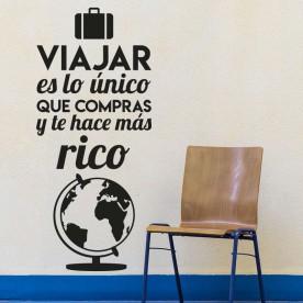 Vinilo Viajar Te Hace Rico