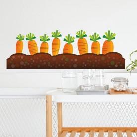 Vinilo para cocinas huerto zanahoria
