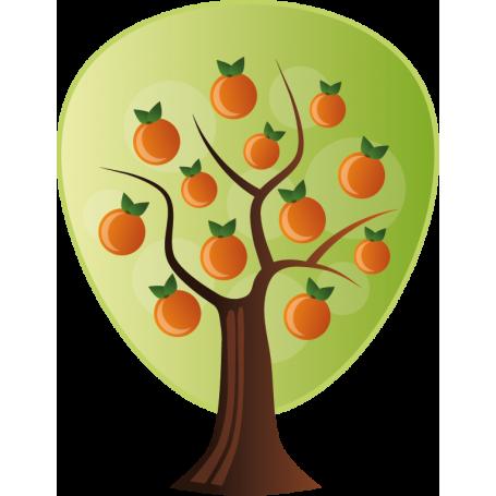 Vinilo decorativo árbol naranjo