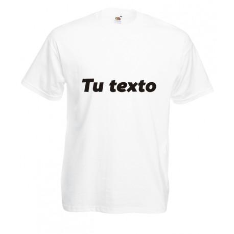Camiseta tu texto personalizado