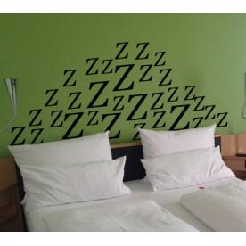 Vinilo cabecero cama ZZZ azul eléctrico 133 Mate 150x67cm