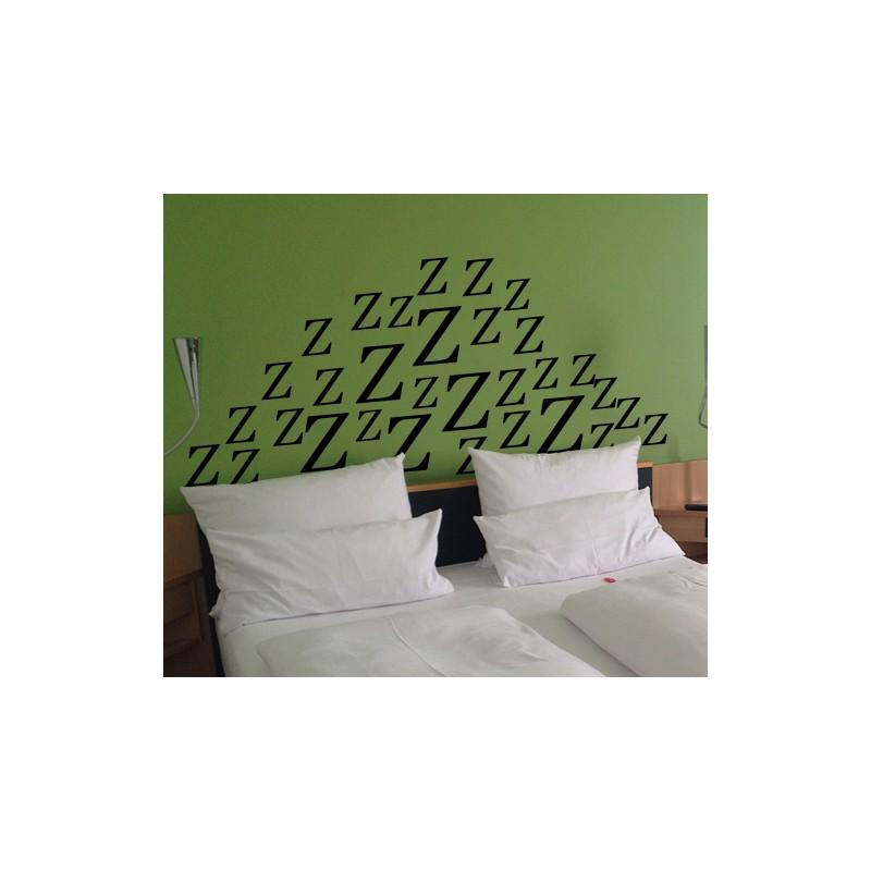 Vinilo cabecero cama zzz azul el ctrico 133 mate 150x67cm - Vinilo cabecero cama ...