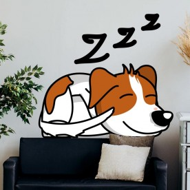 Vinilo decorativo perro durmiendo