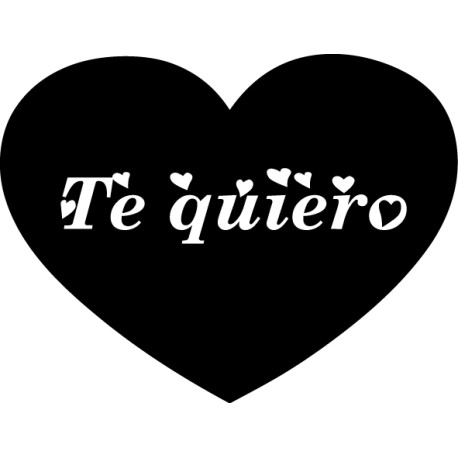 Vinilo corazón te quiero