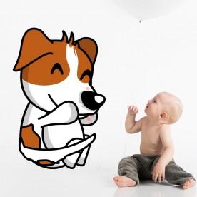 Vinilo infantil perro abrazo